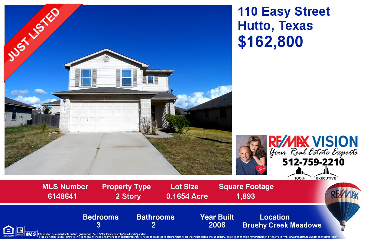 110 Easy Street – Hutto, Texas